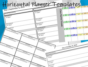 Planner PowerPoint Template - Easily Customize Your Planner! DIY -  Horizontal