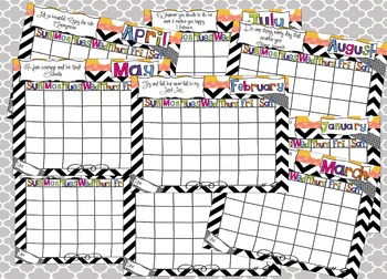 Planner: Printable and Editable Calendar Pages