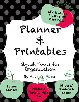 Planner & Printables Binder for Stylish Organization