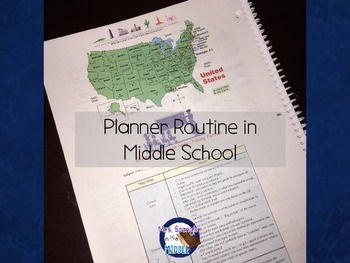 Planner Routine in Middle School