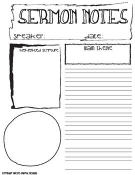 Planner Sermon Notes