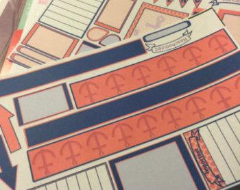 Planner Sticker Kit-Anchors Horizontal