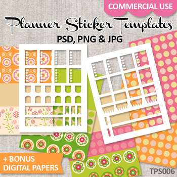 Planner Sticker Template For Erin Condren Life Planner No By - Sticker layout template