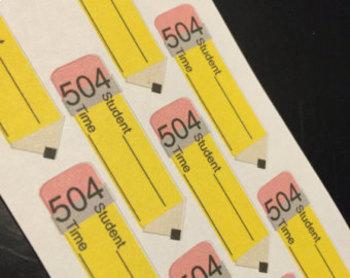 504 Stickers for teacher lesson planner or calendar