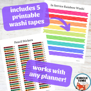 Teacher Planner Stickers for the Whole Year!