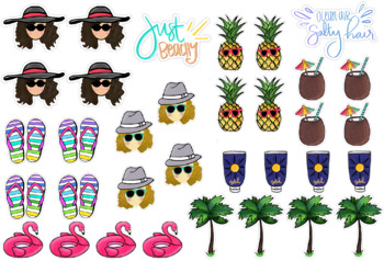 Planner Stickers: Just Beachy