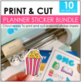 Planner Stickers Bundle | Print and Cut Ready
