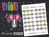 Planner Stickers Printable, Bows No.01
