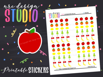 Planner Stickers Printable, Fruits No.03