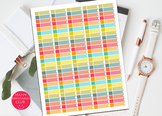 Planner Stickers Template-Printable Planner Stickers Headers