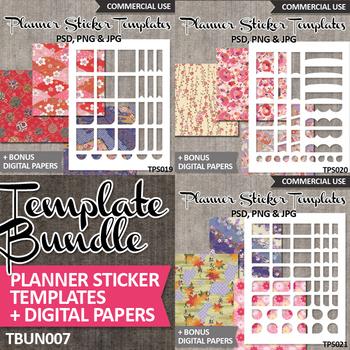 Planner Stickers Templates Bundle Vol. 7 / Erin Condren life planner