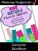 Planner Stickers for Erin Condren Teacher Planner Editable *Updated!