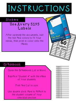 Planner Stickers for Erin Condren Teacher Planner Editable *Updated!