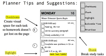 Planner Tips and Suggestions
