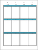 Planner Weekley Editable Template Aqua