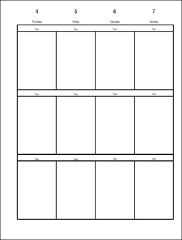 Planner Weekley Editable Template White