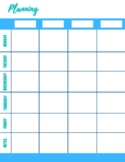 Planner Weekly Schedule Sheets
