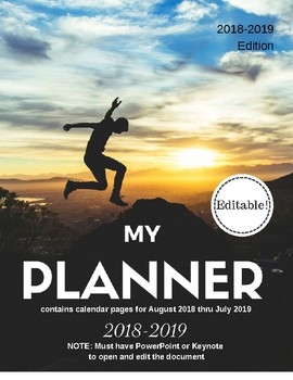 Fun! Planner and Calendar (Editable and Customizable)