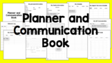 Planner and Communication Book **EDITABLE**