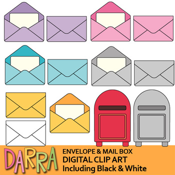 Planner clip art - Envelope and Mail Box Clipart