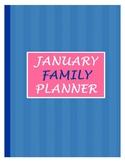 Family Planner for January 2019 - Print & Plan!