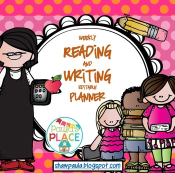 Planner for Reading and Writing - editable