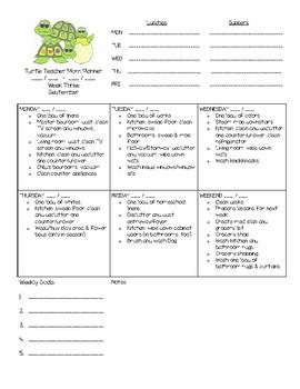 Planner for September