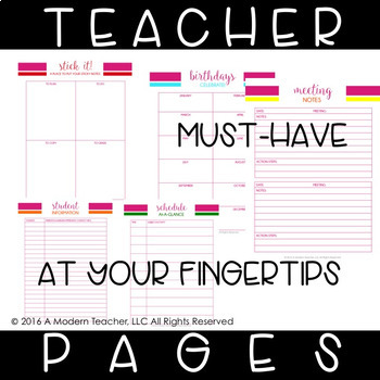 Teacher Planner for Your Personal Life