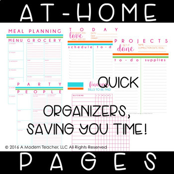 Teacher Planner for Your Personal Life Bundle
