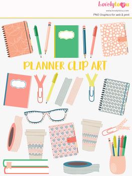 Planner journal clipart, planning clip art (LC27)