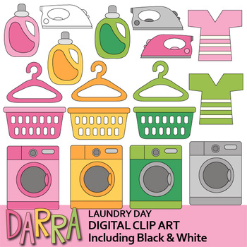 Planner sticker clip art - Laundry day clipart