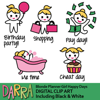 Planner sticker clipart / Happy days clip art