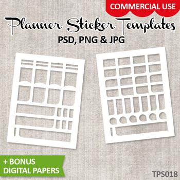 Planner sticker templates, DIY Kit Erin Condren planner stickers / No. 18