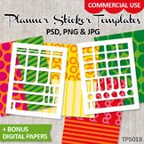 Planner sticker templates, DIY Kit Erin Condren planner st
