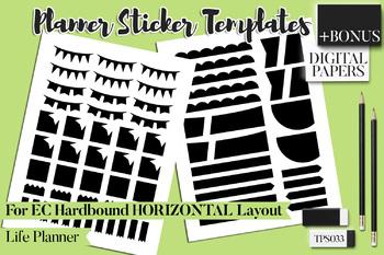 Planner stickers templates Bundle Vol. 11 - Erin Condren Hardbound Horizontal