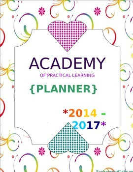 Planner/Binder Front Cover Customizable