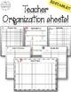Editable Teacher Planner Organization Sheets - Watercolor Theme