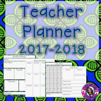 Teacher Planner 2017-2018 {Free for life updates}