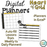 Paperless Planners for Excel Use - Heart of Gold Digital Teacher Planners
