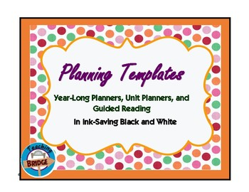 Planners- Yearly, Weekly, and Thematic Units