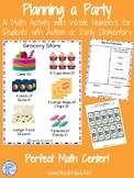 Planning A Party Math Activity with Whole Numbers for Autism Units or Early Elem