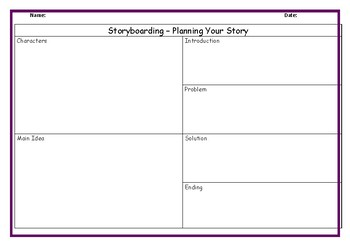 Planning A Story {Storyboard}