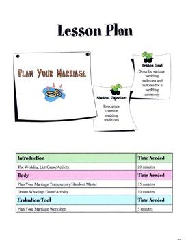 Planning A Wedding Lesson