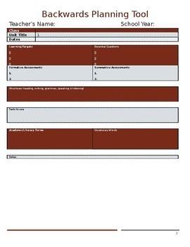 Planning Binder Contents