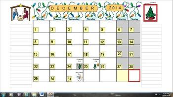 Planning Calendar School Year 2014-2015 (Canadian version)