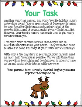 Planning Christmas Math Project: {DIFFERENTIATED} Real World Math Problems