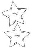 DESCRIPTIVE WRITING Senses Stars for Planning (Early Primary)