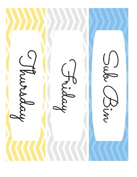 Planning Drawer Labels