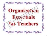 Planning Essentials (Plus a few extras!)