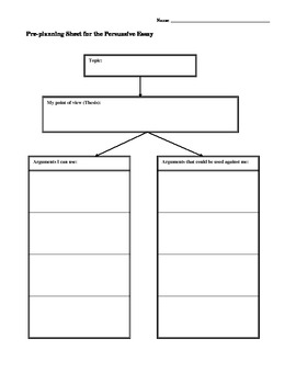 Planning Expository and Persuasive Essays:  Four Graphic Organizers